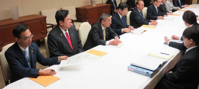 平成31年度大阪市予算編成に向けた市長との意見交換会